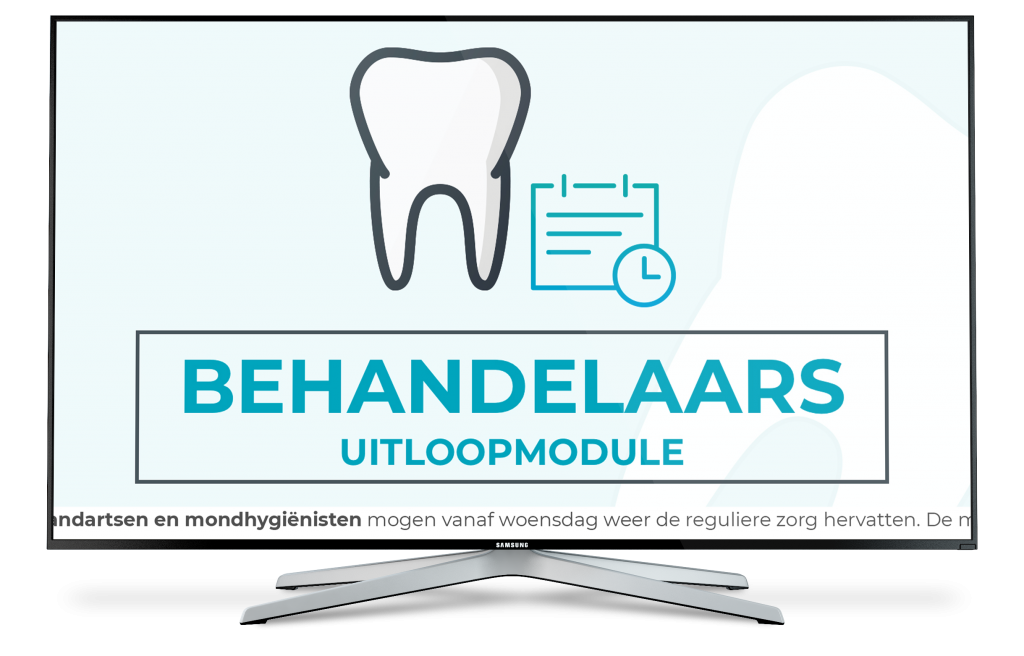 Wachtkamerscherm mogelijkheden | Narrowcasting informatiescherm voor tandartsen | Controlscreen
